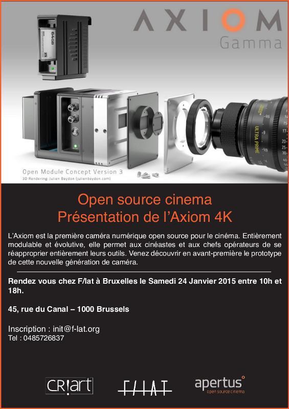 Flyer Invitation Présentation Axiom 4k